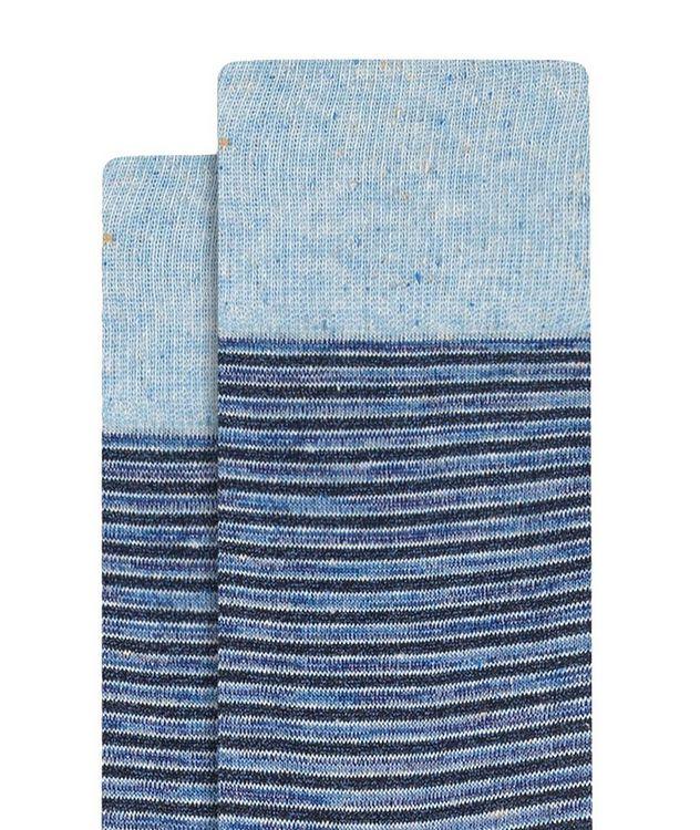 Striped Mercerized Cotton Socks picture 2