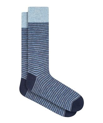 Bugatchi Striped Mercerized Cotton Socks