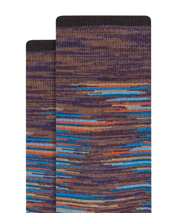 Heather Stripe Cotton Socks image 1