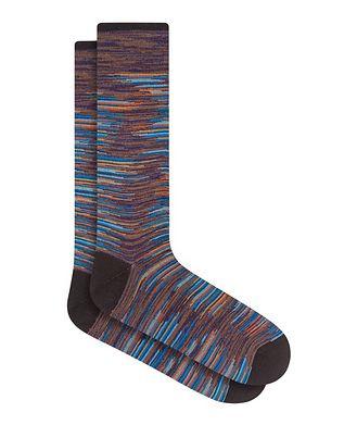 Bugatchi Heather Stripe Cotton Socks