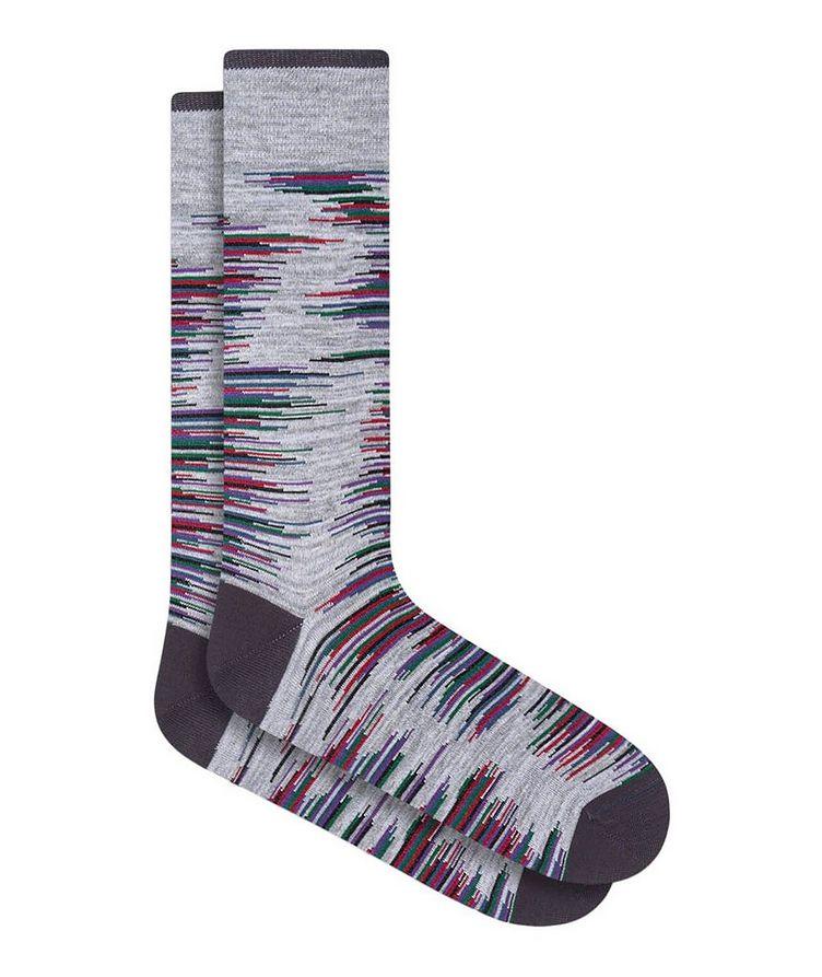 Broken Heather Stripe Cotton Socks image 0