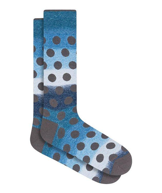 Gradient Polka Dot Cotton Socks picture 1