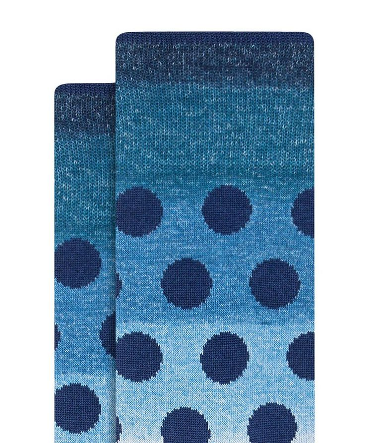 Chaussettes dégradées en coton à pois image 1