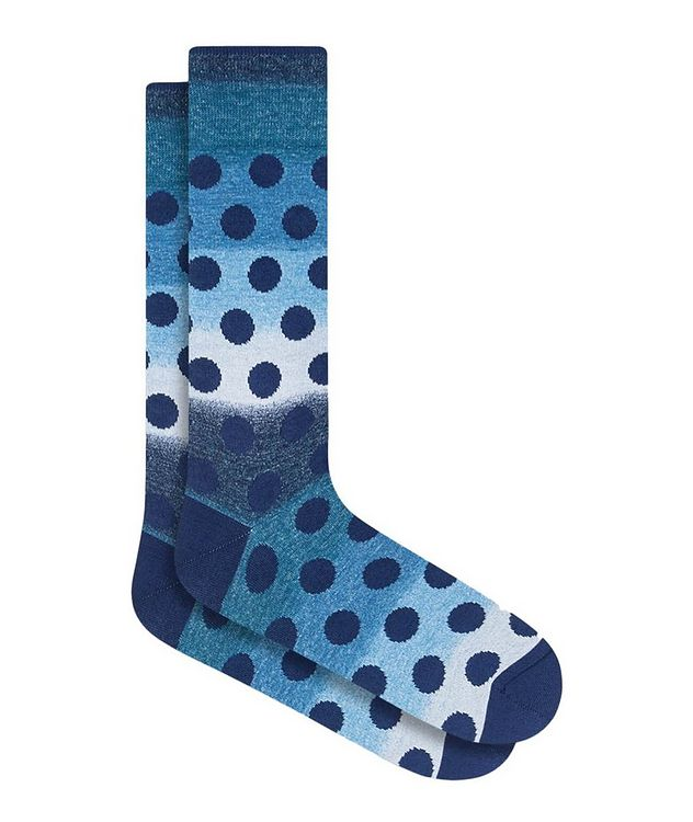 Gradient Polka Dot Cotton Socks picture 1