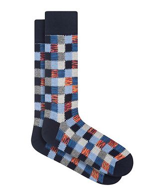 Bugatchi Patchwork Cotton Socks