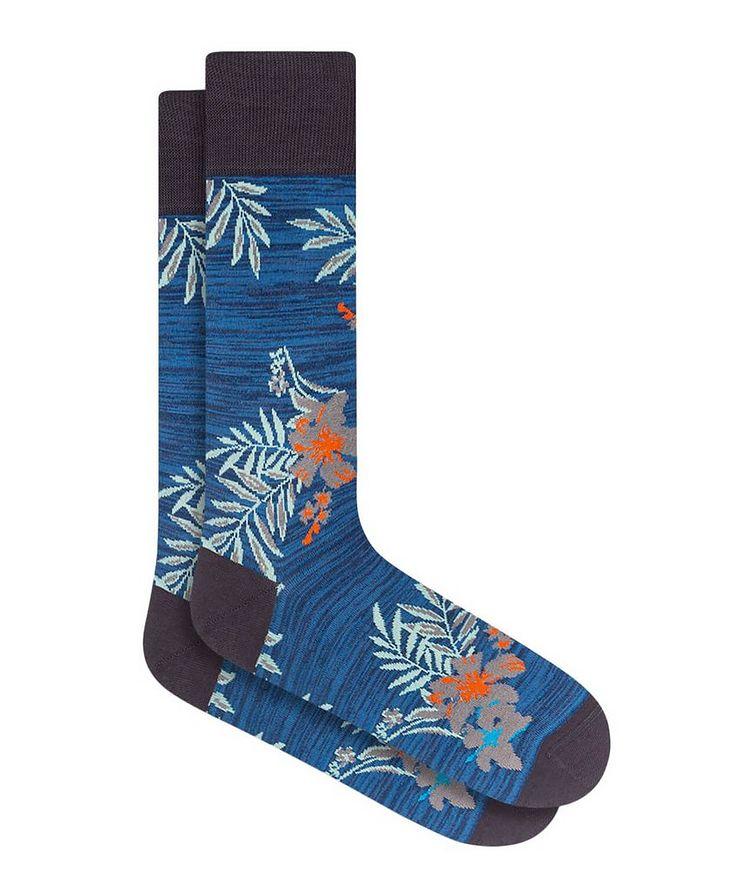 Floral Print Cotton Socks image 0