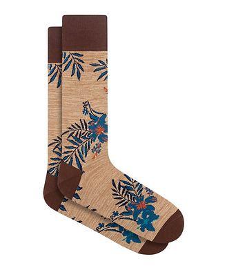 Bugatchi Floral Print Cotton Socks