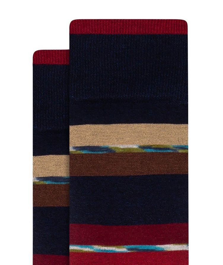 Striped Cotton-Blend Socks image 1