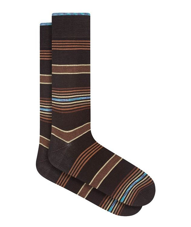 Striped Cotton-Blend Socks picture 1