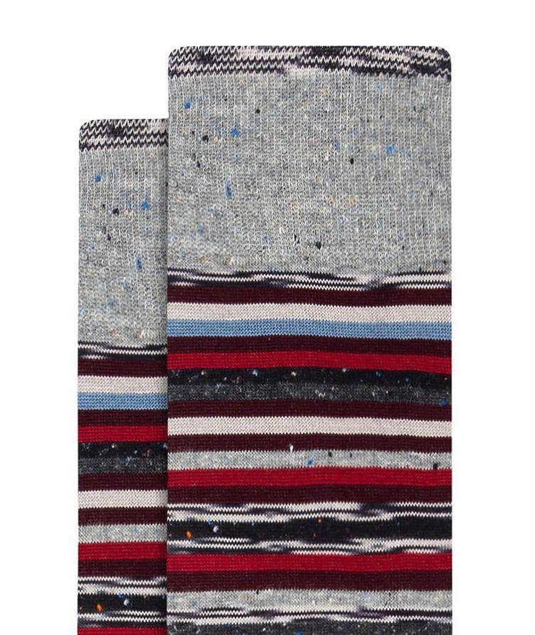 Speckled Striped Cotton Socks image 1