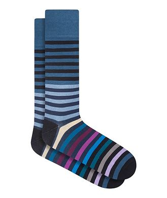 Bugatchi Striped Cotton Socks