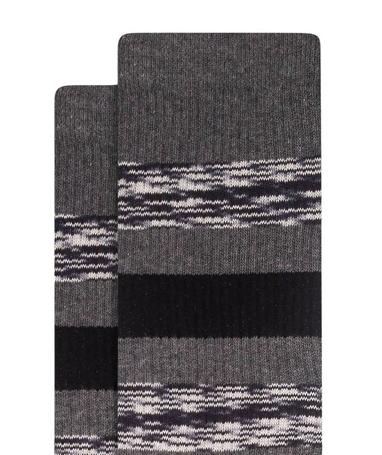 Ribbed Striped Cotton Socks image 1