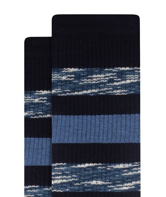 Ribbed Striped Cotton Socks picture 2