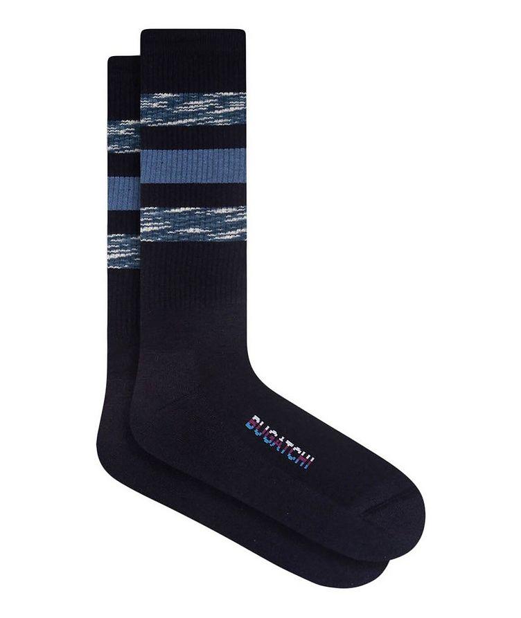 Ribbed Striped Cotton Socks image 0