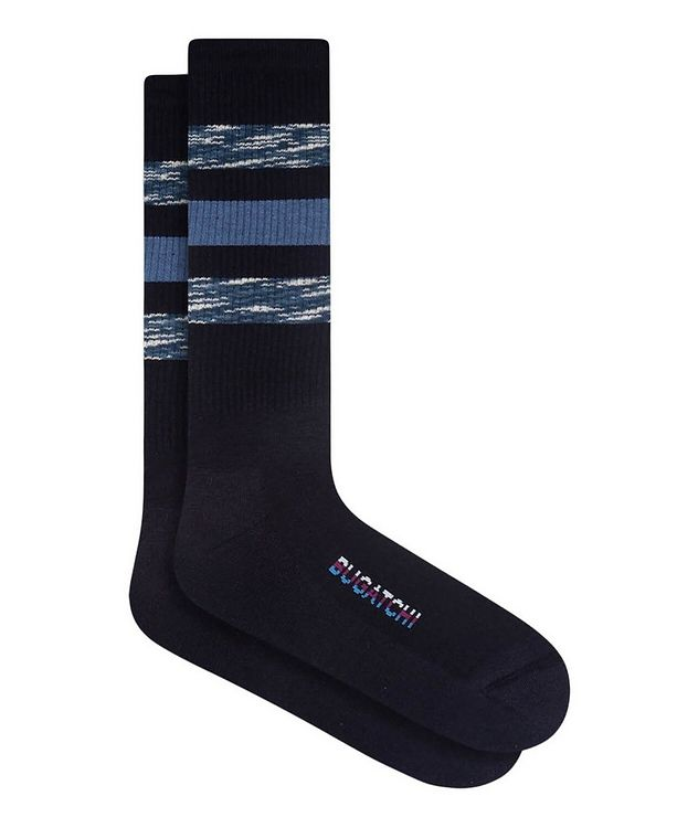 Ribbed Striped Cotton Socks picture 1