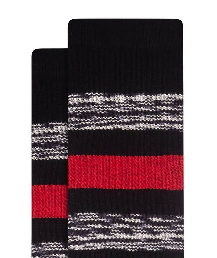 Ribbed Striped Cotton Socks image 1