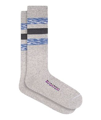 Bugatchi Ribbed Striped Cotton Socks