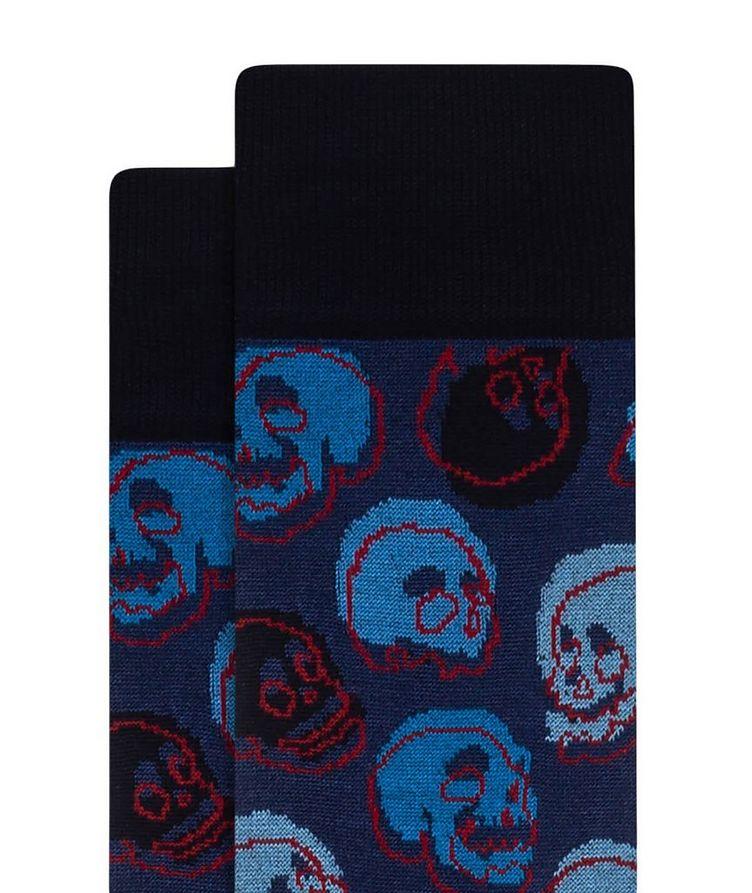 Skull Print Cotton Socks image 1