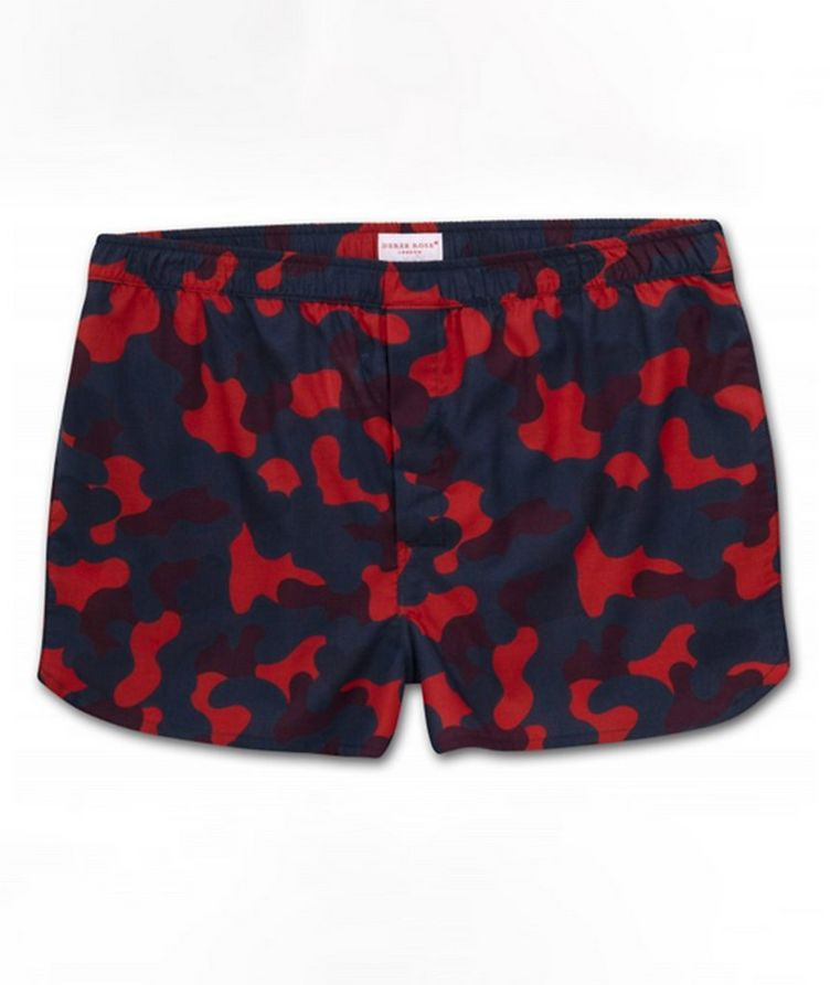 Camouflage-Printed Cotton Boxers image 0