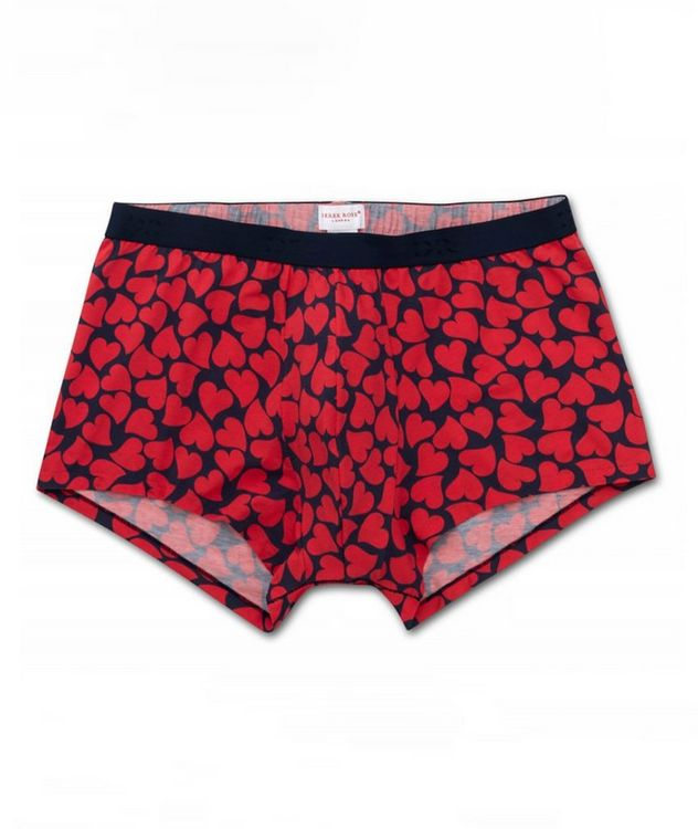 Heart-Printed Hipster Briefs picture 1