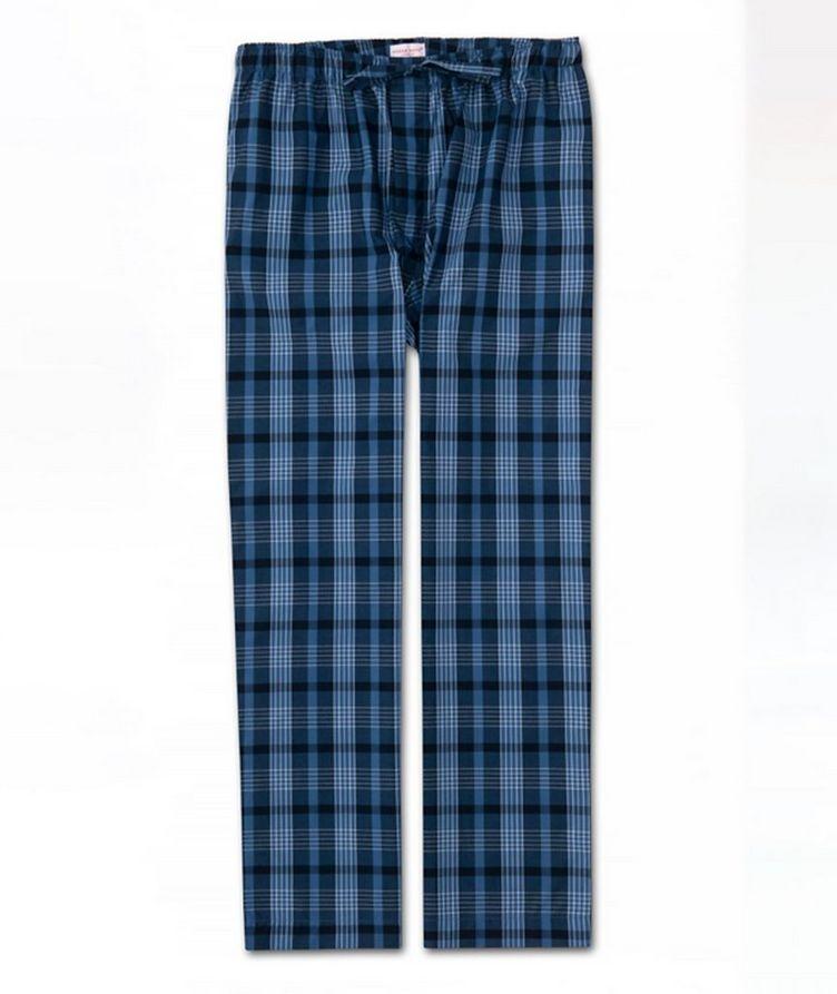 Plaid Cotton Pants image 0