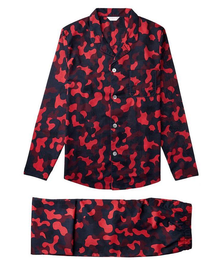 Pyjama en coton à motif camouflage image 0