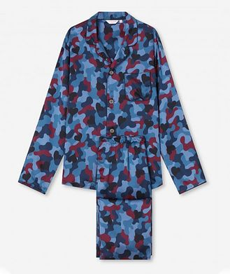 Derek Rose Camouflage-Printed Silk Pyjamas