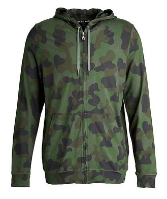 Derek Rose Camouflage-Printed Jersey Zip-Up Hoodie