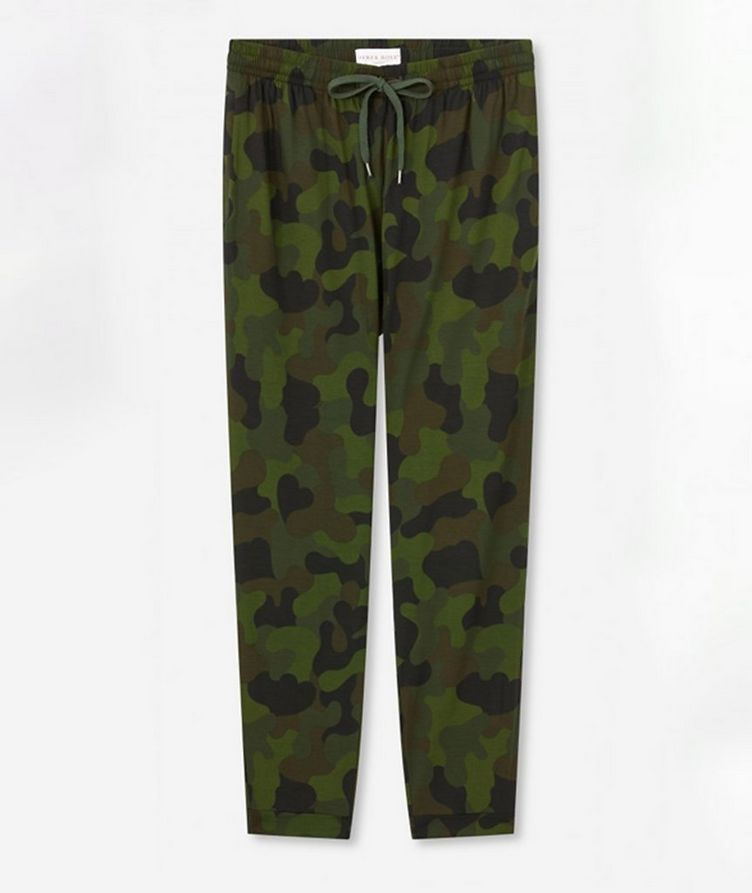 Camouflage Jersey Track Pants image 0