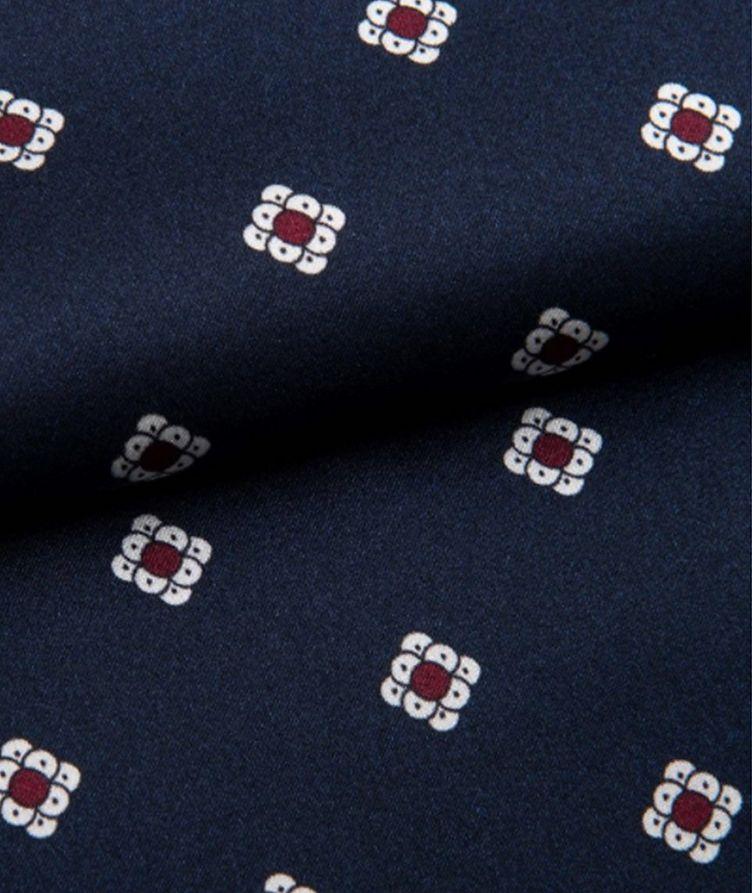 Printed Tassel-Belted Silk Robe image 1
