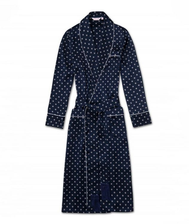 Printed Tassel-Belted Silk Robe picture 1