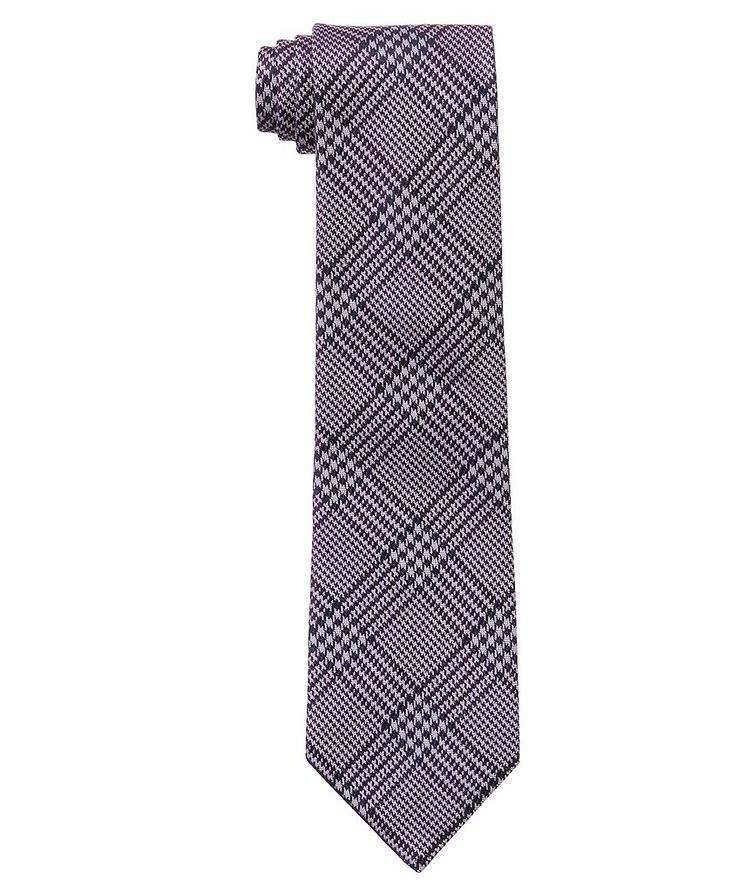 Houndstooth Check Silk Tie image 0