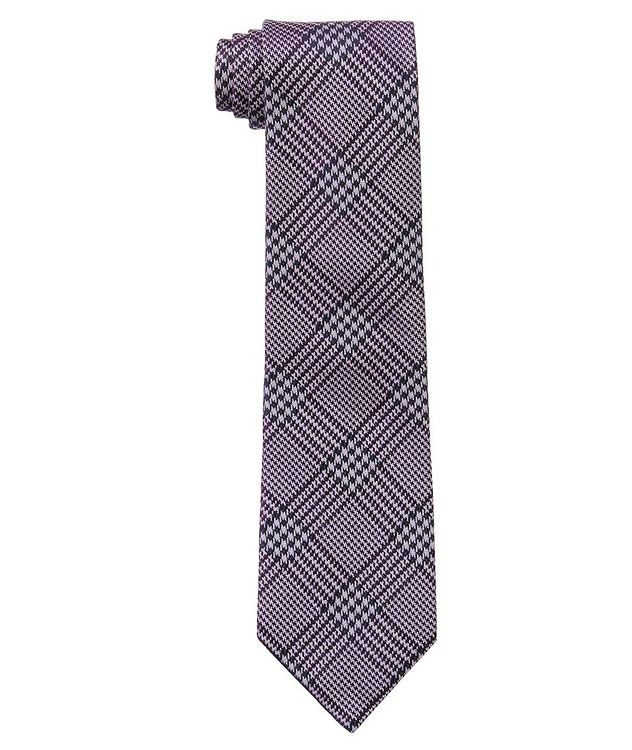 Houndstooth Check Silk Tie picture 1
