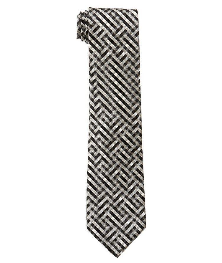 Cravate en soie à carreaux vichy image 0