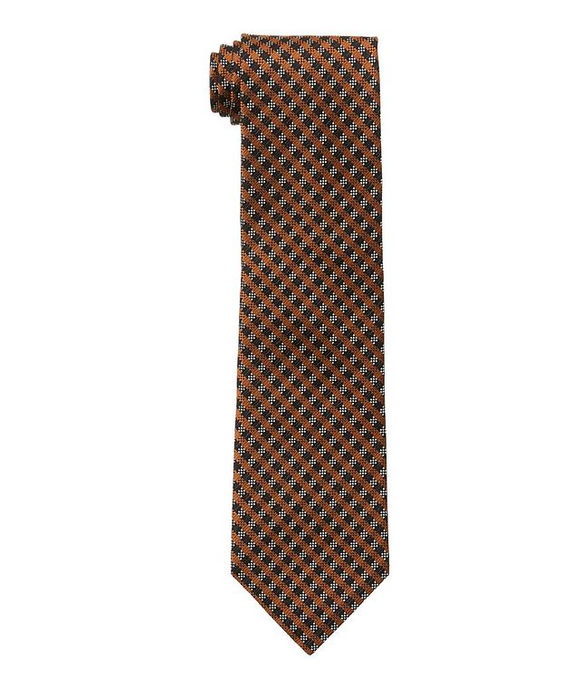 Gingham Silk Tie picture 1