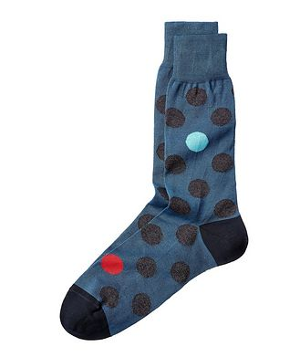 Bugatchi Polka Dot Stretch-Cotton Socks