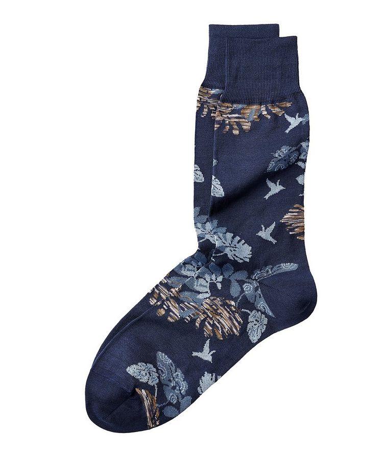 Botanical Stretch-Cotton Socks image 0