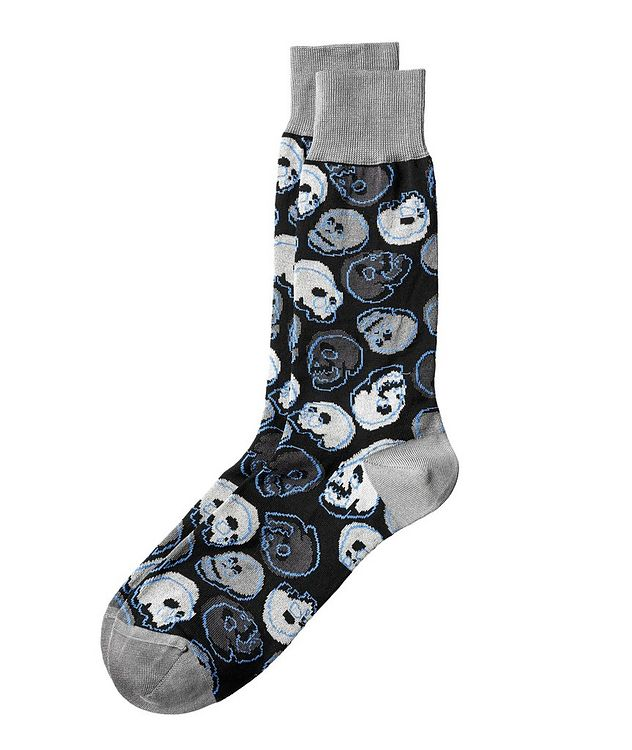 Skull Stretch-Cotton Socks picture 1