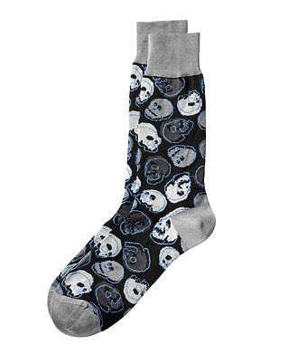 Bugatchi Skull Stretch-Cotton Socks