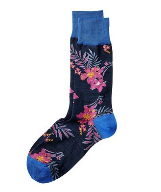 Bugatchi Botanical Stretch-Cotton Socks