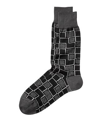 Bugatchi Printed Stretch-Cotton Socks