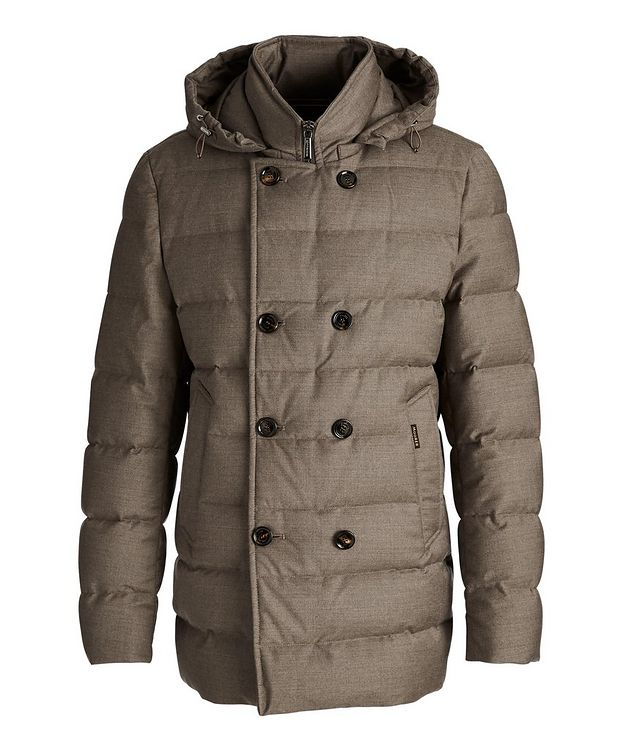 Florio Hooded Double-Breasted Puffer Jacket picture 1