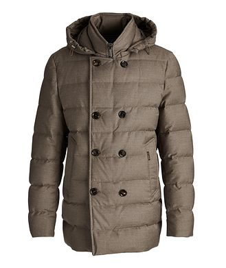 Moorer Florio Hooded Double-Breasted Puffer Jacket
