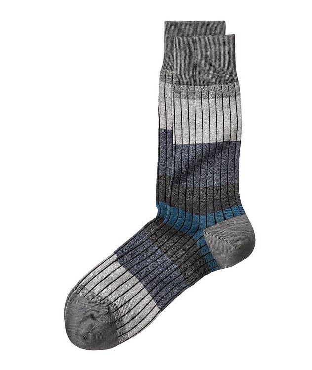 Ribbed Stretch-Cotton Socks picture 1