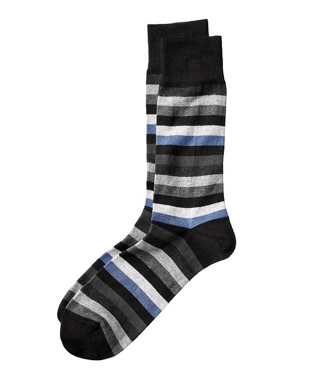 Chaussettes en coton et cachemire à rayures picture 1