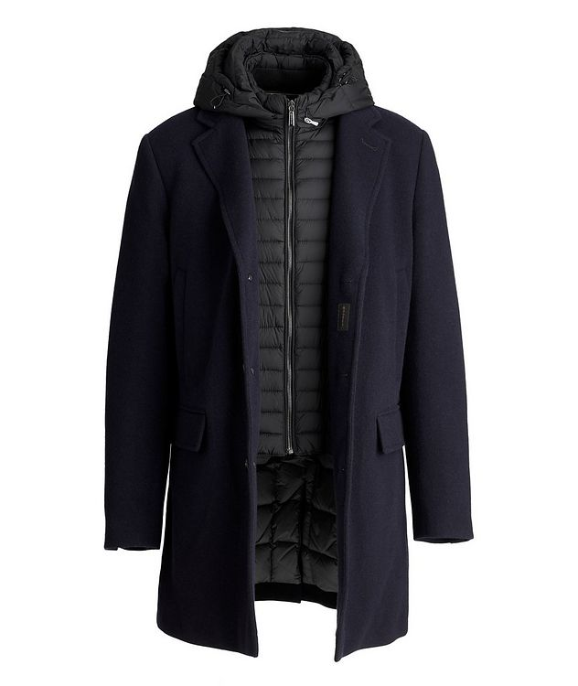 Mitchell Hooded Wool-Down Coat picture 4