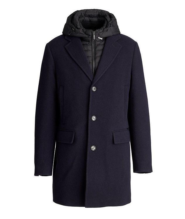 Mitchell Hooded Wool-Down Coat picture 1