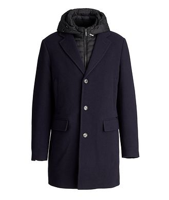 Moorer Mitchell Hooded Wool-Down Coat