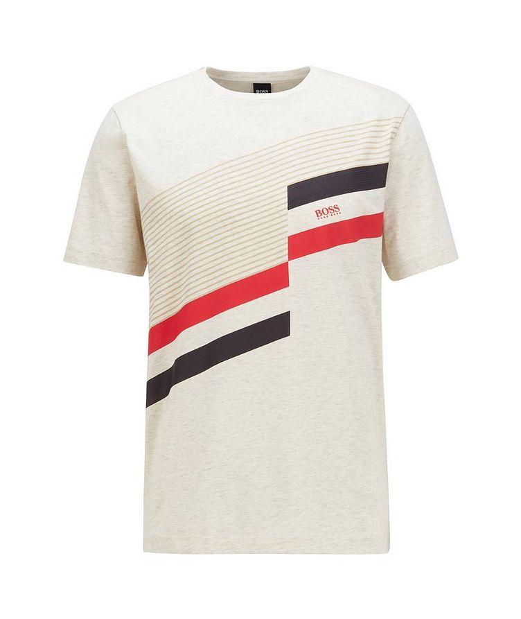 Printed Stretch-Cotton T-Shirt image 0