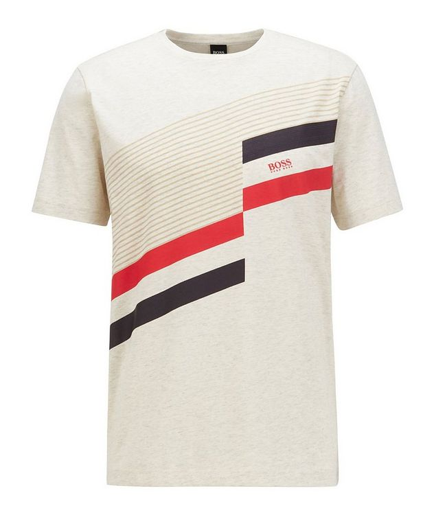 Printed Stretch-Cotton T-Shirt picture 1